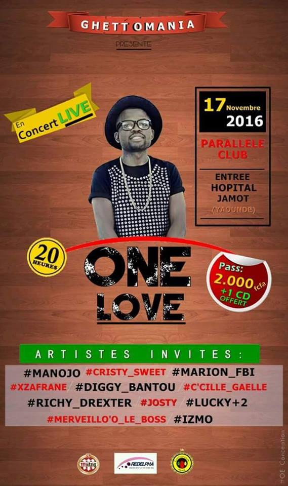 Photo of One Love en spectacle live au cabaret PARALLÈLE CLUB à 20H ce jeudi 17 novembre 2016