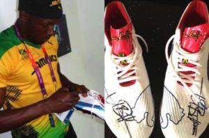 Les chaussures signées d'Usain Bolt volées