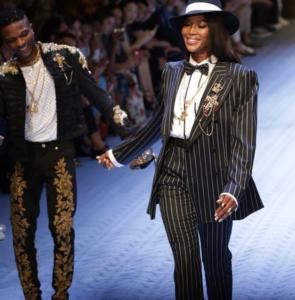 La Star Nigériane Wizkid a défilé pour Dolce & Gabbana