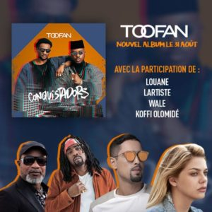 L'album « Conquistadors » du duo Toofan disponible le 31 Août