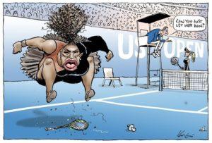 Une caricature de Serena Williams jugée « raciste », fait scandale !