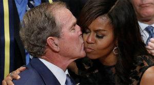 « Je l'aime à mourir », Michelle Obama s'enflamme pour George W. Bush !