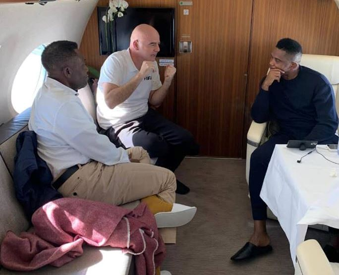 Gianni Infantino:        «Arrêtez d'appeler Samuel Eto'o la légende africaine»