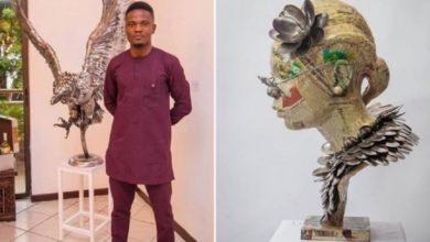 Photo of Le Nigérian Abinoro Collins réalise d'incroyables sculptures grandeur nature avec des cuillères !