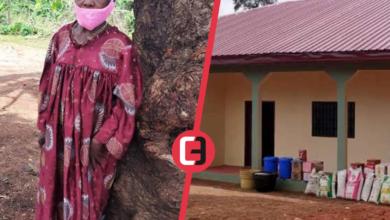 Photo of Justine LIBALA, Vedette Pygmée du Groupe Patengué a reçu sa maison