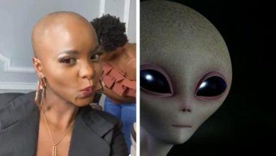 Photo de Daphné comparée à un « Alien » sur Facebook