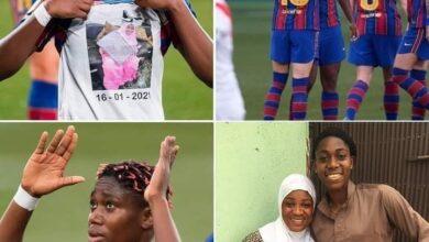 Photo de Barça : La nigériane Asisat Oshoala auteur d'un doublé face à Rayo Vallecano fait un hommage touchant à sa mère décédée