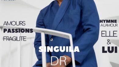 Photo de Singuila,premier homme noir à faire la couverture du magazine de mode féminin ELLE ci
